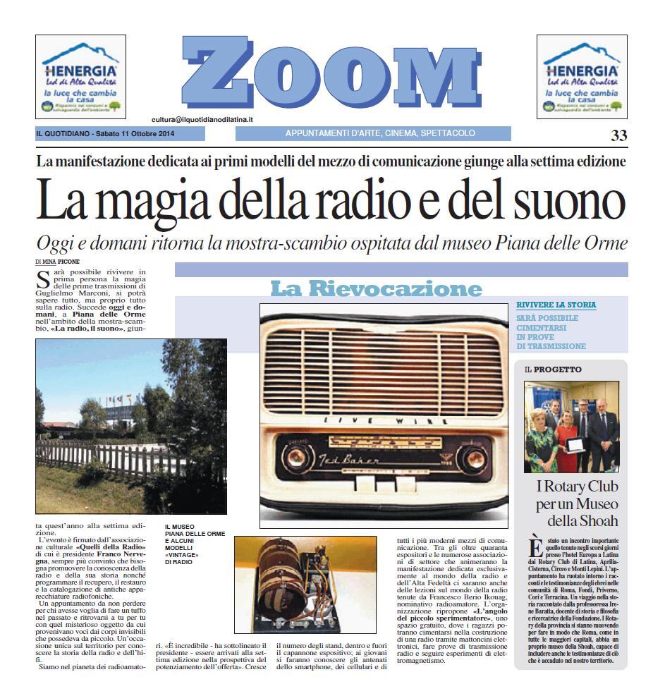 la radio il suono 7 il quotidiano di latina 11 ottobre