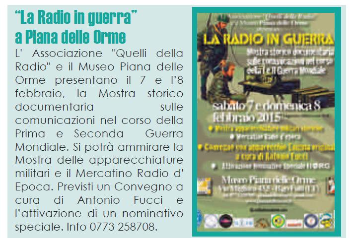 la radio in guerra